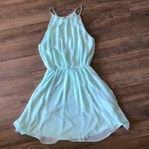 fully lined seafoam bluson skater dress {lush}